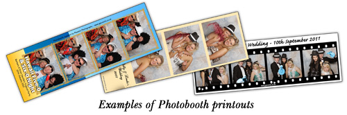 Examples of Photobooth printputs